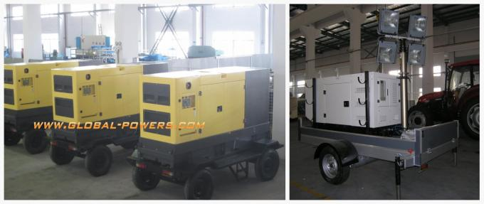 Air - Cooled Telescopic Light Tower / Manual Trailer Mounted Light Towers