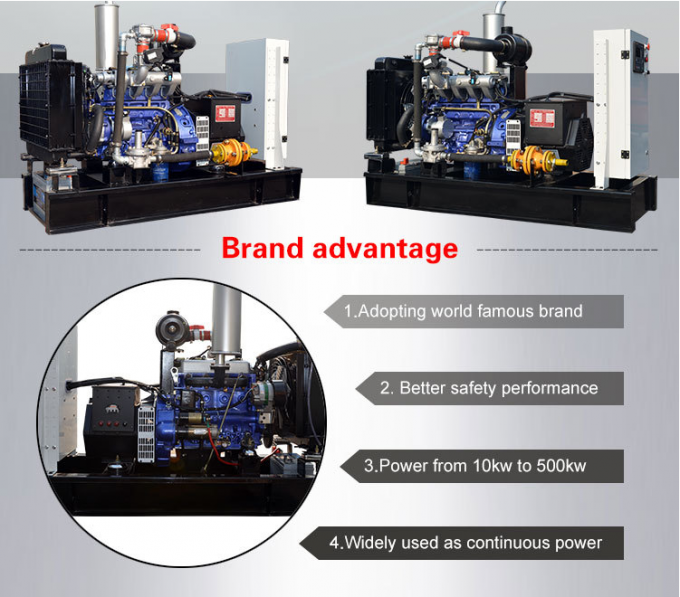 Brushless 3 Phase Gas Generator Set 4 Lines High Efficiency With Electric Starting