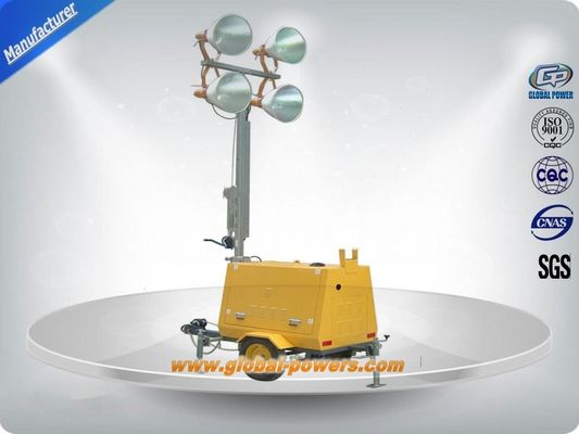 চীন LED 9m Portable Trailer  Mobile Light Tower Diesel Generator  with Hand Push সরবরাহকারী