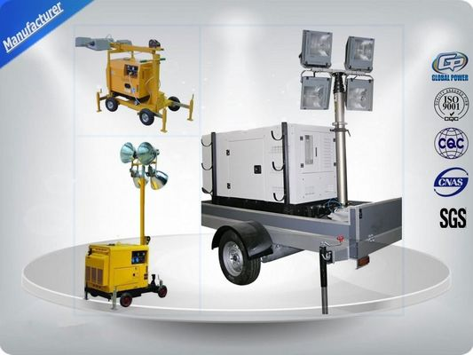 চীন Air - Cooled Telescopic Light Tower / Manual Trailer Mounted Light Towers কারখানা